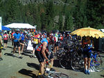 A lot more cyclists are filling up the rest stops.