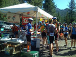 Getting ready for the ascent of Ebbets Pass at the Scossa's Cow Camp Rest Stop.