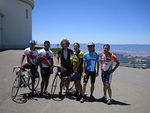 We made it to the top! Relaxing in front of the Lick Observatory atop Mt. Hamilton.
