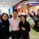 Adam and Rae with Yul at the new Red Mango in Valley Fair.
