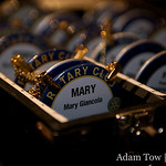 Rotary Club badges.