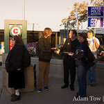 Jared encourages a young commuter to get out and vote on November 4, 2008. Note: He was under-18.