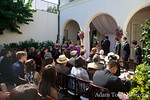 The wedding scene at the Darlington House in La Jolla, California.